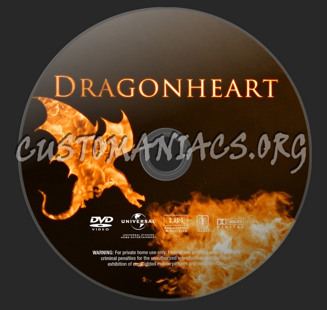 Dragonheart (Franchise Collection) dvd label