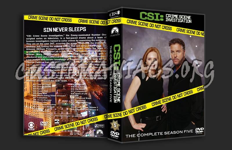 CSI Season 5 dvd cover