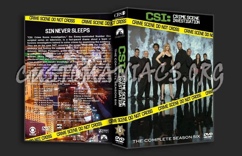 CSI Season 6 dvd cover