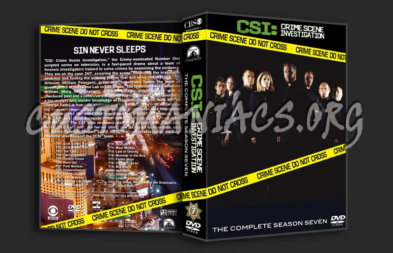 CSI Season 7 dvd cover