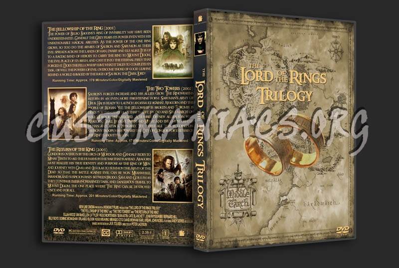 Lord of the Rings Trilogy dvd cover