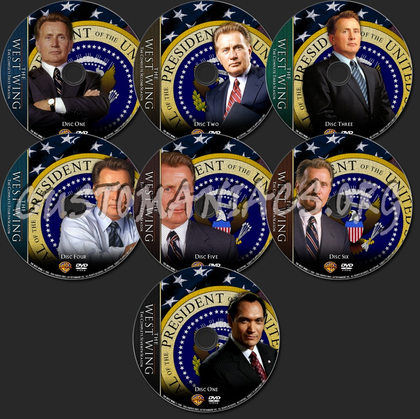 The West Wing - TV Collection dvd label