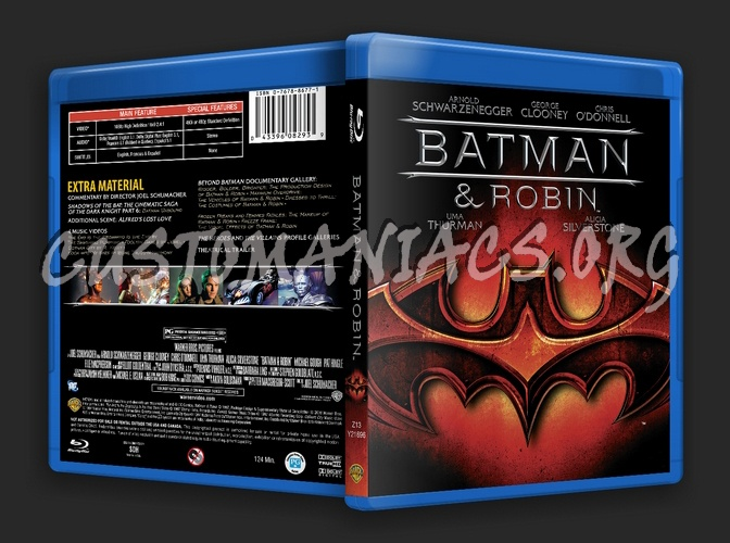 Batman & Robin blu-ray cover