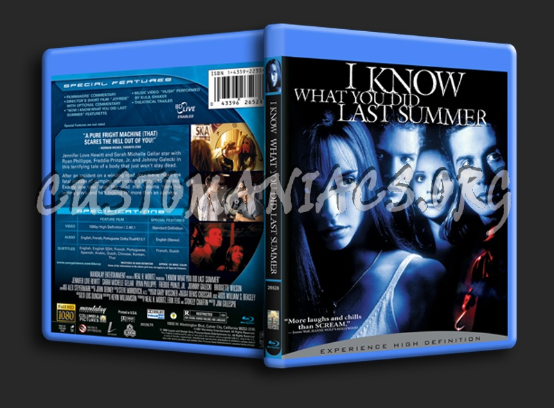 I Know What You Did Last Summer blu-ray cover