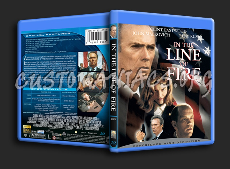 In the Line Of Fire blu-ray cover