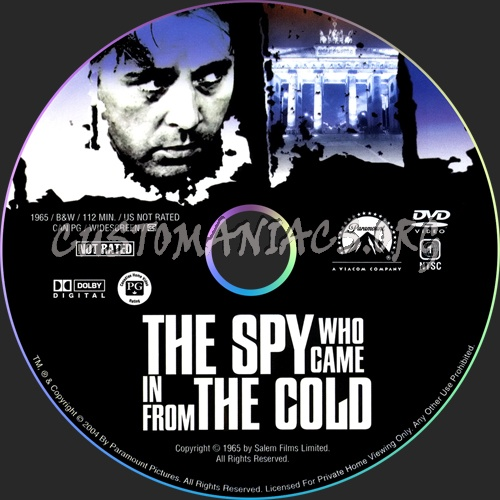 The Spy Who Came In from The Cold dvd label