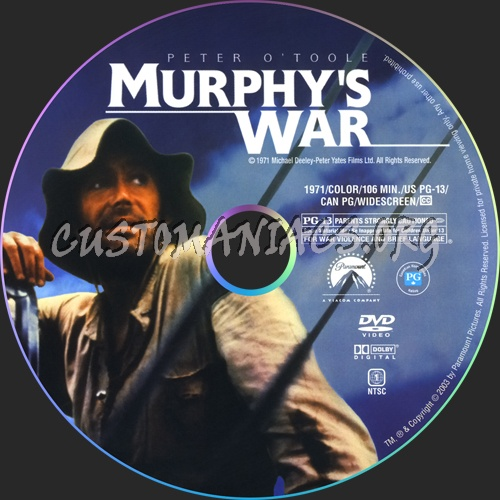 Murphy's War dvd label