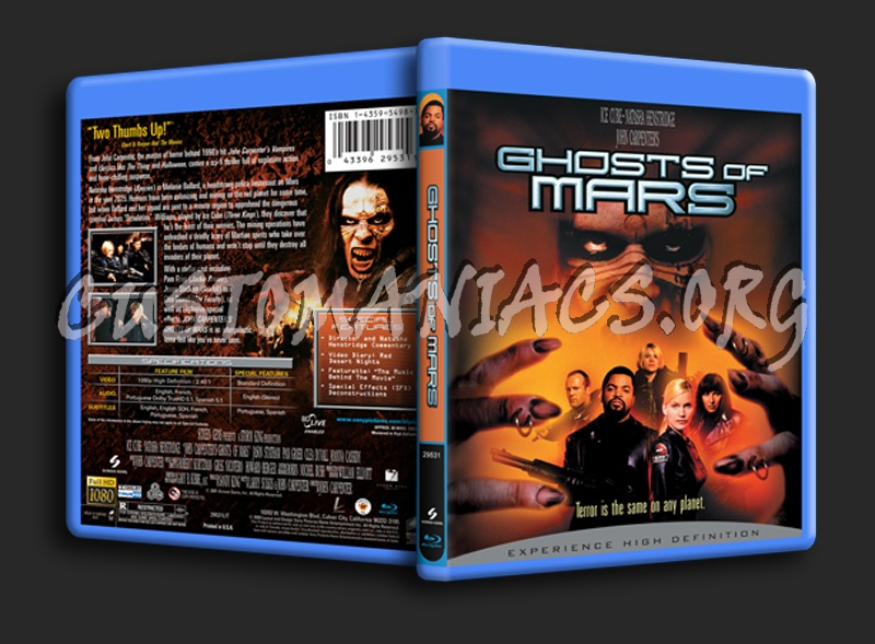 Ghosts of Mars blu-ray cover