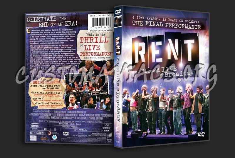 Rent Filmed Live on Broadway dvd cover