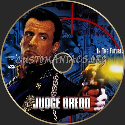 Judge Dredd dvd label