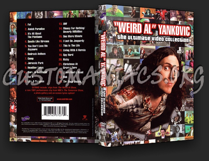Weird Al Yankovic Ultimate Video Collection dvd cover