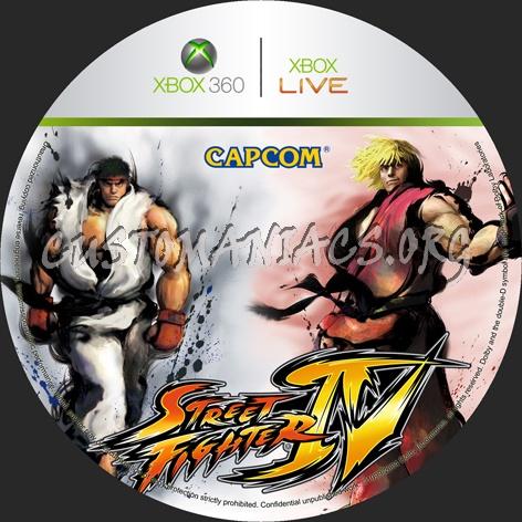 Street Fighter 4 dvd label