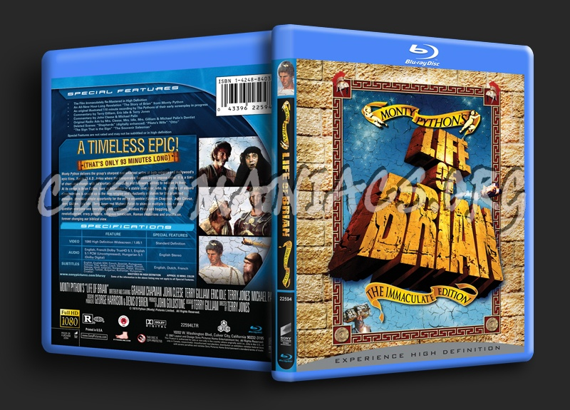 Monty Python's Life Of Brian blu-ray cover