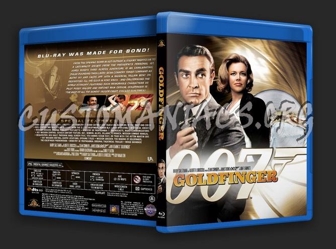 James Bond: Goldfinger blu-ray cover
