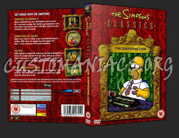 Simpson - The Simpsons dot com dvd cover - DVD Covers & Labels by