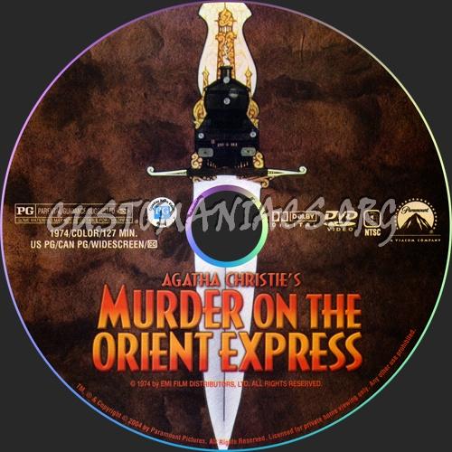 Murder on the Orient Express dvd label
