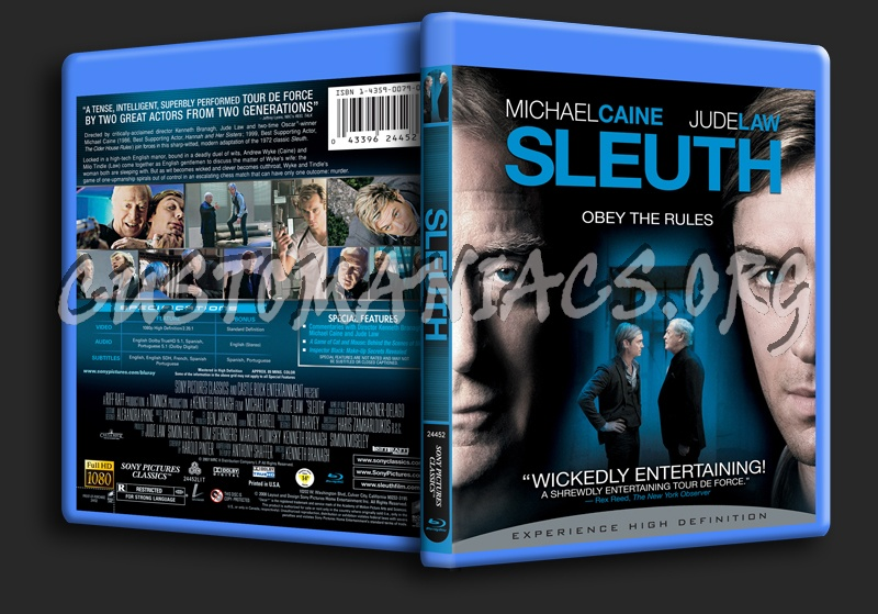 Sleuth blu-ray cover