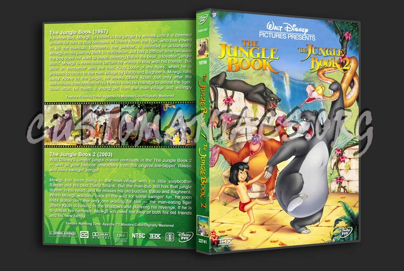 The Jungle Book / The Jungle Book 2 Double Feature dvd cover