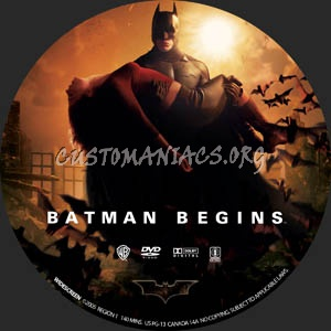 Batman Begins dvd label