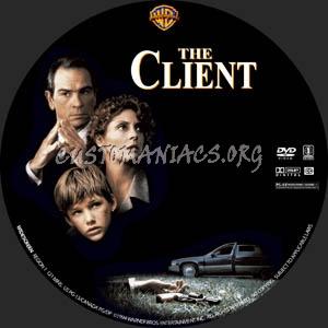 The Client dvd label