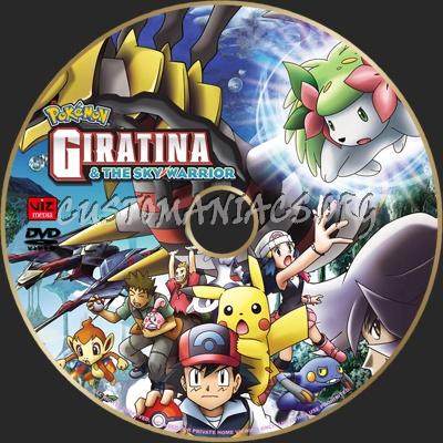 Pokemon Giratina The Sky Warrior Dvd Label Dvd Covers Labels
