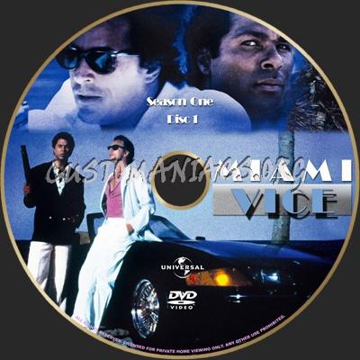Miami Vice Season 1 dvd label