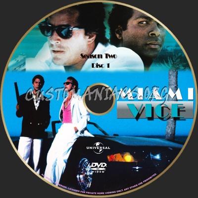 Miami Vice Season 2 dvd label