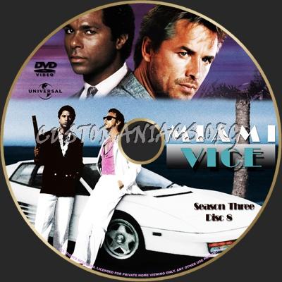 Miami Vice Season 3 dvd label