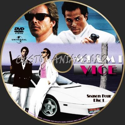 Miami Vice Season 4 dvd label