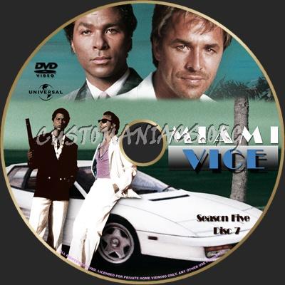 Miami Vice Season 5 dvd label