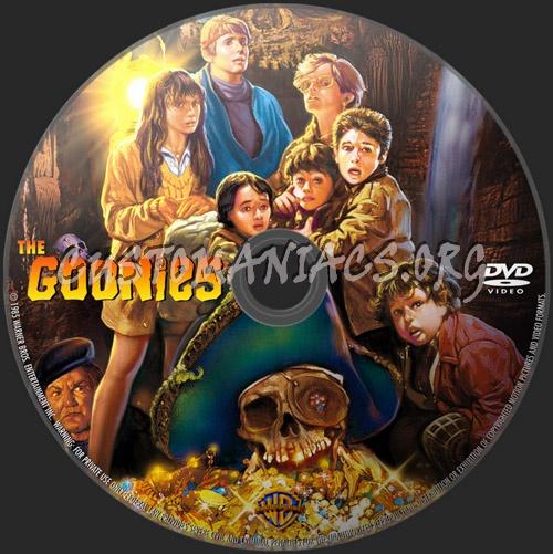 The Goonies dvd label
