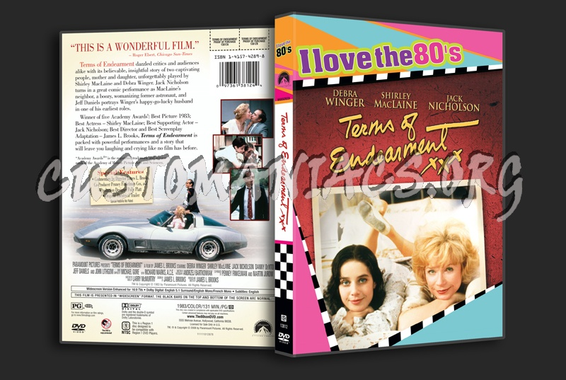 Terms of Endearment dvd cover