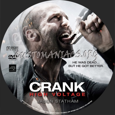 dancing with stars max03. Crank 2 High Voltage dvd label