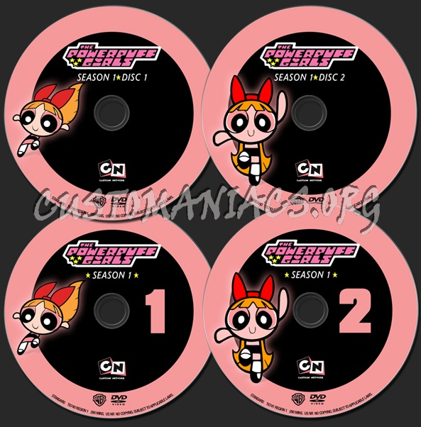 Powerpuff Girls Season 1 dvd label