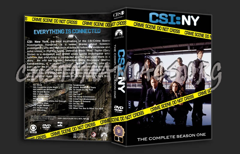 CSI: NY Seasons 1-4 dvd cover