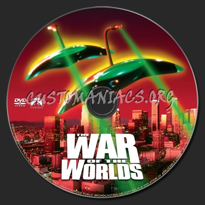 The War of the Worlds (1953) dvd label