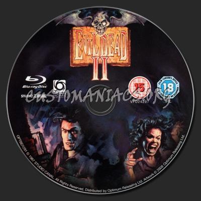 Evil Dead II: Dead by Dawn blu-ray label