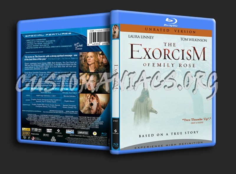 The Exorcism of Emily Rose blu-ray cover