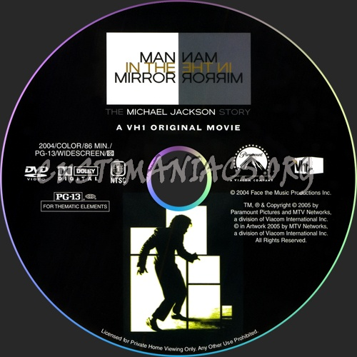 Man in the Mirror dvd label