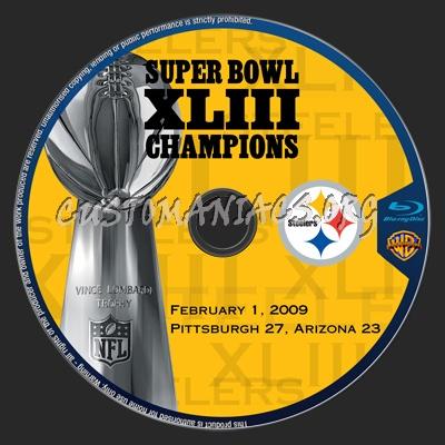 Super Bowl XLIII Champions : Pittsburgh Steelers blu-ray label
