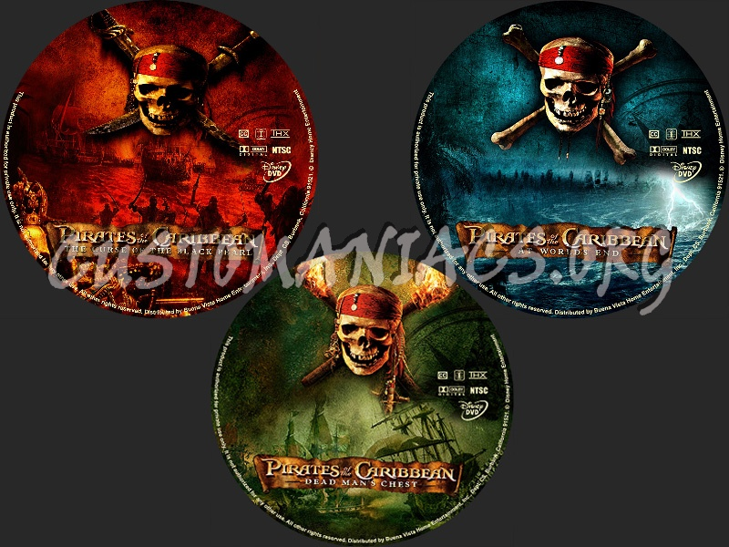 Pirates of the Caribbean Collection dvd label