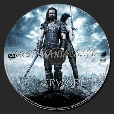 Underworld- Rise of the Lycans dvd label