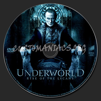 Underworld: Rise of the Lycans dvd label