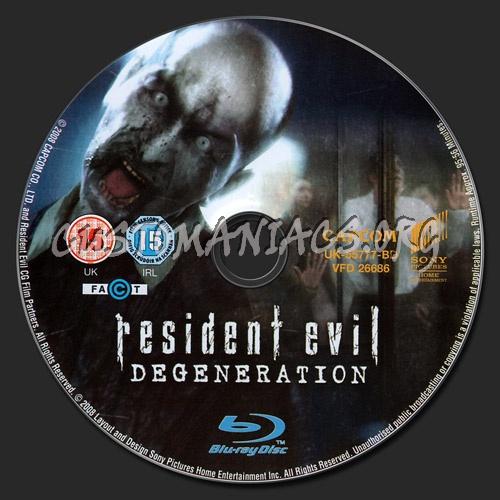 Resident Evil - Degeneration blu-ray label