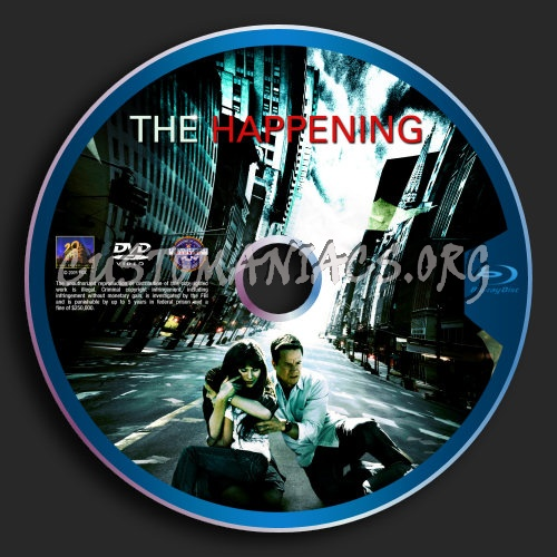 The Happening blu-ray label