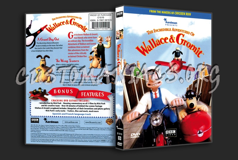 The incredible adventures of Wallace And Gromit dvd cover