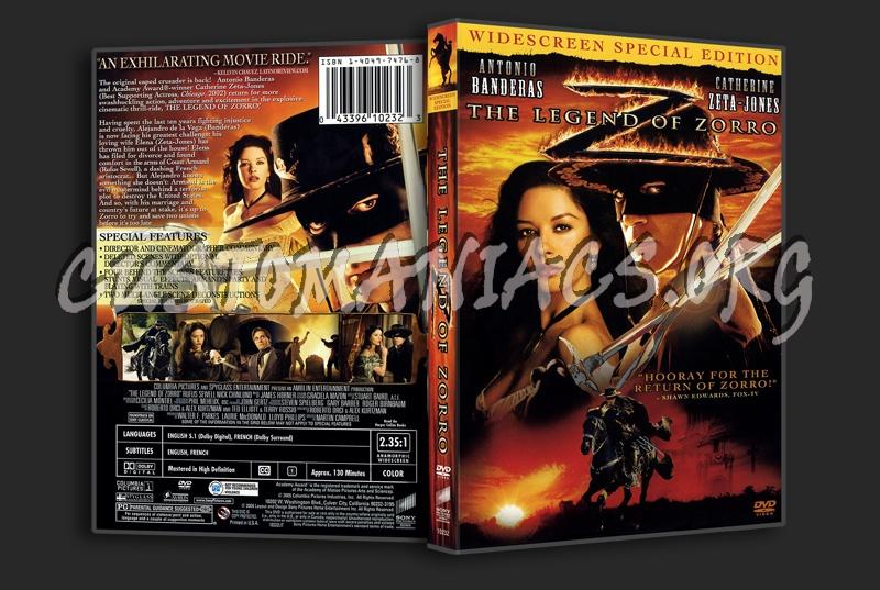 The Legend Of Zorro dvd cover