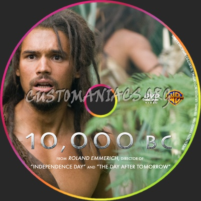 10,000 BC dvd label - DVD Covers & Labels by Customaniacs