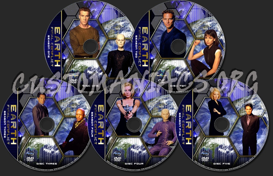 Earth: Final Conflict - TV Collection dvd label
