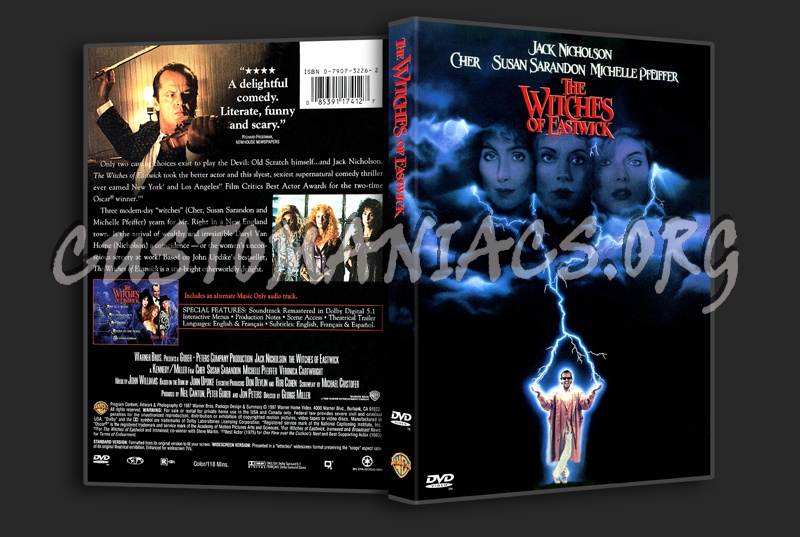 Witches Of Eastwick Quotes: The Witches Of Eastwick Dvd Cover
